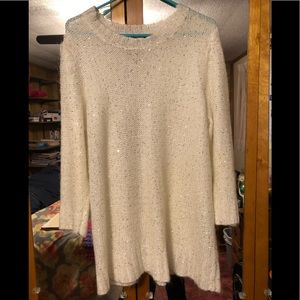 Eloquii long sleeve sequined sweater